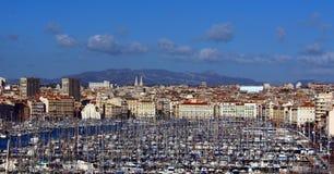 De haven Vieux in Marseille, Frankrijk Royalty-vrije Stock Afbeeldingen