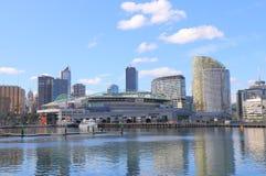 De havencityscape van Melbourne Stock Foto