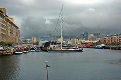 De havengebied van Cape Town - waterkant Stock Foto