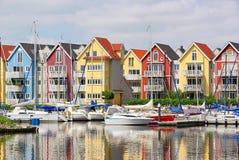 De havenhuizen van Greifswald Royalty-vrije Stock Foto