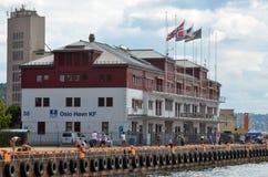 De Havenkf hoofdkwartier van Oslo Stock Afbeeldingen