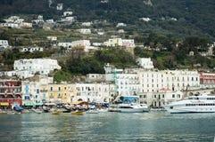 De havenlevensstijl van Capri stock afbeelding