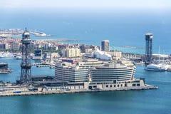 De havenmening van Barcelona Royalty-vrije Stock Foto