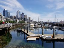 De havenmening van Seattle royalty-vrije stock afbeeldingen