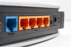 De Havens van de Router van het netwerk sluiten omhoog Stock Foto