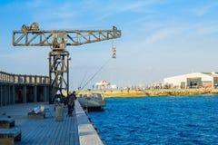 De Havenscène van Tel Aviv Stock Afbeeldingen