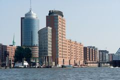 De havenstad van Hamburg Stock Fotografie