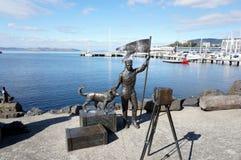De havenstandbeelden van Hobart stock afbeelding