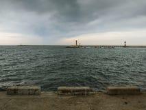 De Havenvuurtoren van Sotchi stock afbeelding