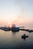 De havenzonsondergang van Quetzal van Puerto royalty-vrije stock foto