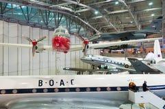 De Havilland dök på Duxford det imperialistiska krigmuseet royaltyfri foto