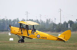 De Havilland DH82 - at La Comina 100 anniversary Royalty Free Stock Photography