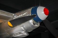 De Havilland myggakämpe-bombplan motor Royaltyfri Fotografi