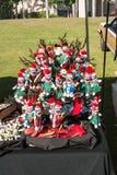 De Hawaiiaanse Santa Claus-decoratie in het Ruilmiddel van Maui komt samen Royalty-vrije Stock Afbeeldingen