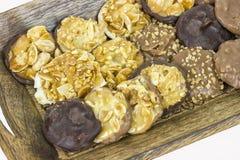 De hazelnootamandel van de chocolade Stock Foto