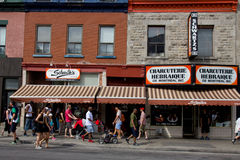 De Hebreeuwse Delicatessen van Montreal Stock Foto