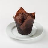 De heerlijke cake van de chocolademuffin Stock Foto