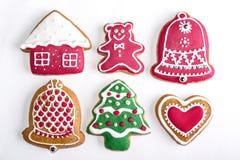 De heerlijke eigengemaakte koekjes van de Kerstmispeperkoek van CDelicious eigengemaakte  stock afbeelding