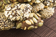 De heerlijke koekjes van de homemeadechocolade stock fotografie