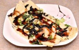 Heerlijke omeletbroodjes Stock Afbeelding