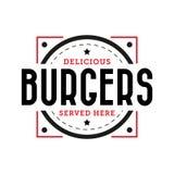 De heerlijke wijnoogst van de hamburgerzegel Stock Foto's