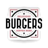 De heerlijke wijnoogst van de hamburgerzegel Royalty-vrije Stock Foto's