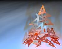 De heersers die van de driehoek een Kerstmisboom samenstellen Royalty-vrije Stock Foto's