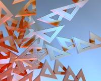 De heersers van de driehoek Stock Afbeeldingen