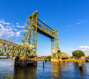 De Hef, an old railway bridge in Rotterdam Royalty Free Stock Image