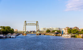 De Hef, an old railway bridge in Rotterdam Royalty Free Stock Photos