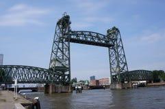 De Hef ou ponte de Koningshavenbrug em Rotterdam, os Países Baixos imagens de stock royalty free
