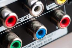 De hefbomen van de input met kabel royalty-vrije stock foto's