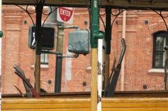 De Hefbomen van de Kabelwagen stock afbeelding