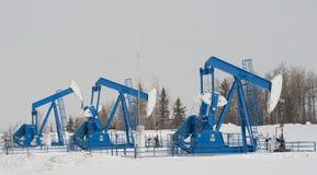 De Hefbomen van de pomp in centra Alberta Royalty-vrije Stock Afbeeldingen
