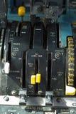 De hefbomen van het vliegtuig royalty-vrije stock foto