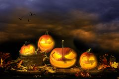 De hefboom-o-Lantaarns van Halloween Royalty-vrije Stock Afbeelding