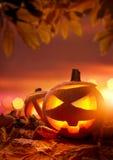 De hefboom-o-Lantaarns van Halloween Stock Afbeeldingen