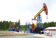 De hefboom van de pomp, de olieindustrie Stock Foto
