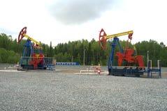 De hefboom van de pomp, de olieindustrie Stock Fotografie