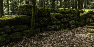 De heidense muur, Mont Sainte Odile, Ottrott, Alsage, Frankrijk Stock Fotografie