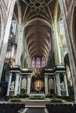 De Heilige Bavo Cathedral in Gent, België stock fotografie