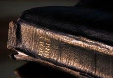 De heilige bijbel van het leer Stock Foto's