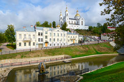 De heilige Dormition-Kathedraal op de Uspenskaya-berg, Vitebsk, is Stock Foto's