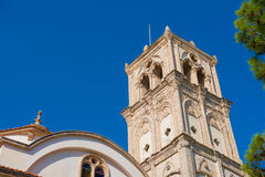 De Heilige Dwarskerk Lefkaradorp, Larnaca-district cyprus Royalty-vrije Stock Foto's