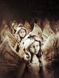 De heilige Godsdienstige Engelen van het Christendomsymbool Stock Afbeeldingen