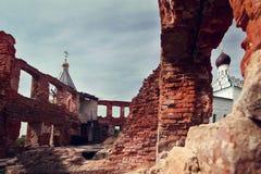 De Heilige het kloosterstad van Drievuldigheidsostrovoezersky van Vorsma Stock Fotografie