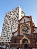 De heilige Joseph Cathedral en het Plein van de Kathedraal Royalty-vrije Stock Fotografie