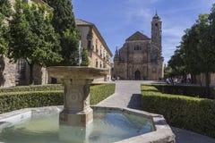 De Heilige Kapel van El Salvador, Ubeda, Spanje Royalty-vrije Stock Foto's