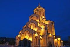 De heilige Kathedraal van de Drievuldigheid De mening van de nacht Royalty-vrije Stock Foto's