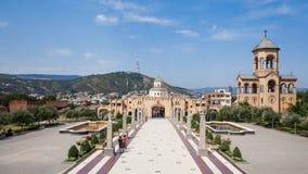 De heilige Kathedraal van de Drievuldigheid van Tbilisi royalty-vrije stock afbeelding
